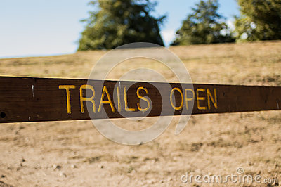 Trails open