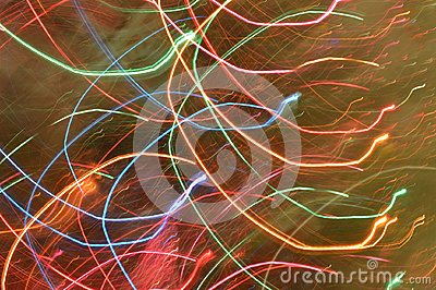 Light Trails of Christmas Tree Lights