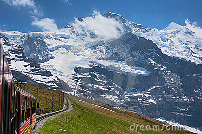 Train through the Alps