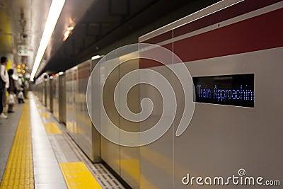 Train approaching barrier