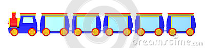 Train Banners Cartoon Illustration