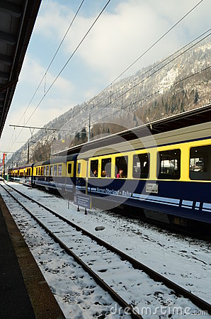 Train Berner Overland Bahn  Editorial Stock Image