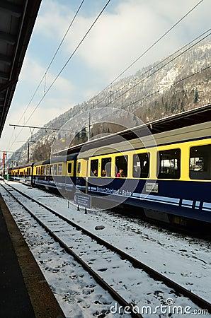 Train Berner Overland Bahn Editorial Stock Image