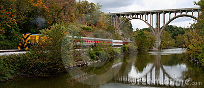 Train, Bridge and River