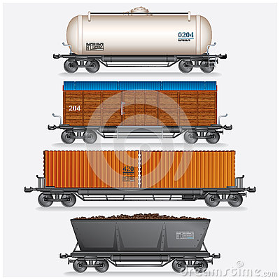 Free Train Cargo Wagons Royalty Free Stock Photo - 27290095