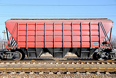The train with cars for dry cargo