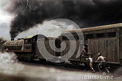 Train catching