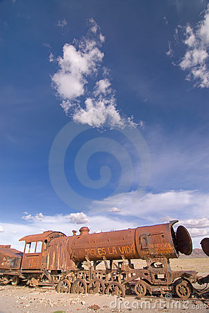 Train Cemetery at Uyuni, Bolivia.