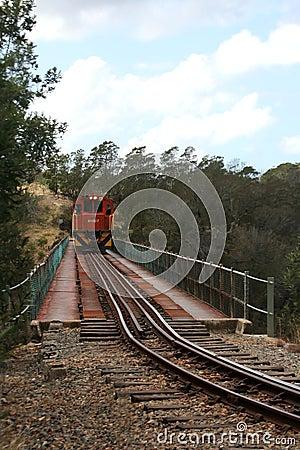 Free Train Crossing Bridge Stock Image - 6646221