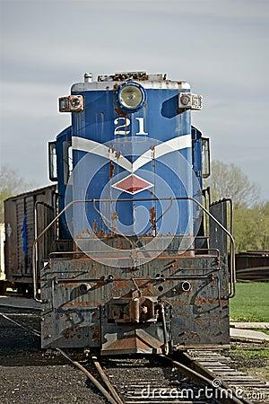 Train de vintage en Illinois