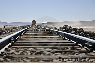 Train at desert
