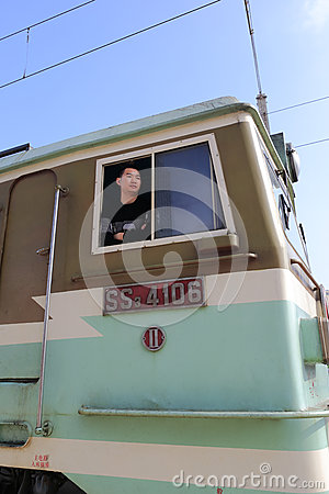 Train driver Editorial Stock Photo