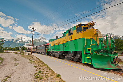 Train excursion to White Pass Editorial Photography