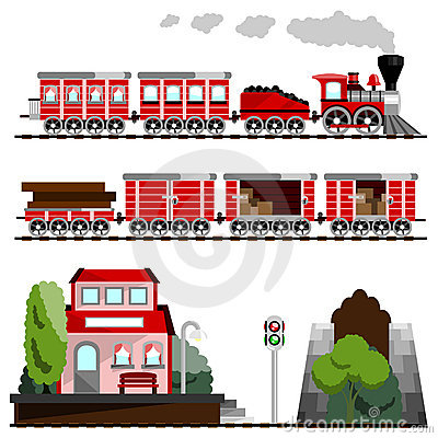 Free Train Great Set Royalty Free Stock Images - 10325449