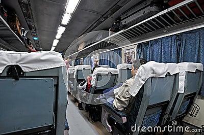 Train indien de luxe Photo éditorial