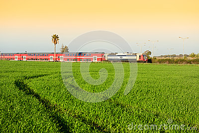 Train of Israel Editorial Stock Photo