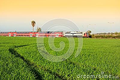 Train of Israel Editorial Stock Photo