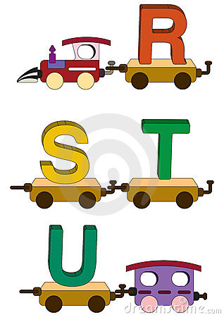 Free Train Letters And Numbers Stock Photos - 5504773