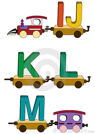 Free Train Letters And Numbers Stock Image - 5504781