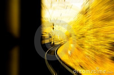 Train in motion blur