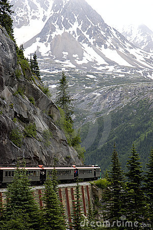 Train In Mountains Royalty Free Stock Images - Image: 6827269