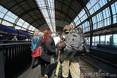 Train Passengers Editorial Image