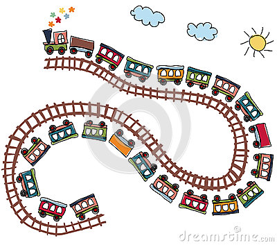 Train Pattern Royalty Free Stock Image - Image: 25580506
