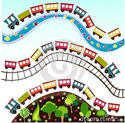 Free Train Pattern, Wallpaper Royalty Free Stock Photography - 13659527