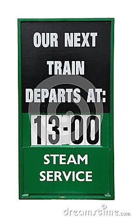 Train placard