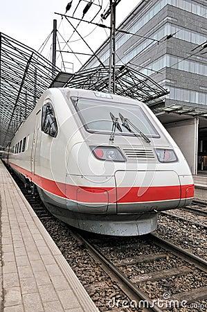 Train at railway station