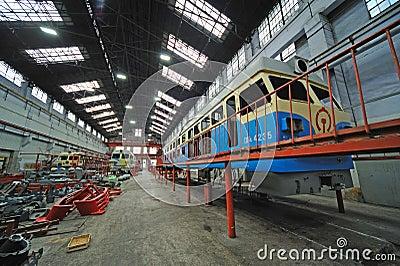 Train repair factory Editorial Stock Image
