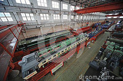 Train repair factory Editorial Stock Photo