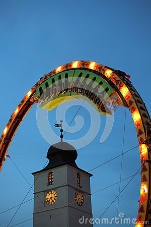 Train rotating inside Super Loops wheel Editorial Photo