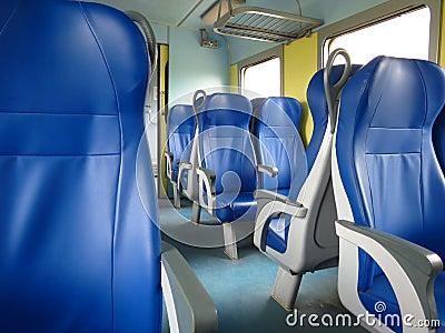 Train seats Editorial Photography