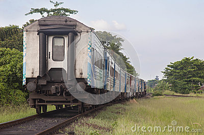 Train in srilanka Editorial Stock Photo