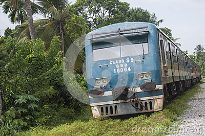 Train in srilanka Editorial Stock Image