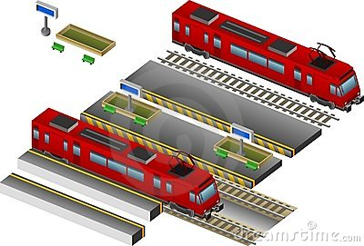 Train with station