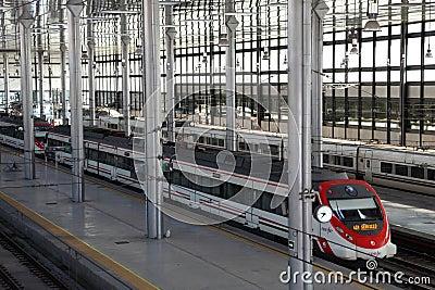 Train station in Cadiz, Spain Editorial Stock Photo