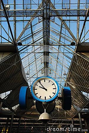 Train-station clock