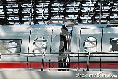 Train station ICE train