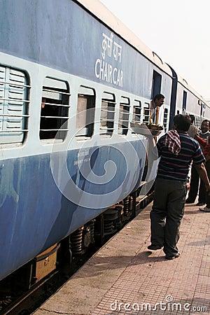 Train station, India Editorial Image