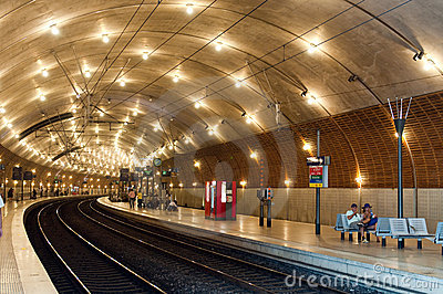 Train station in Monaco Editorial Image