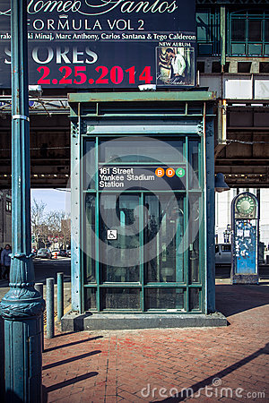Train Station for NY Yankees Editorial Photography
