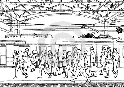 Passenger Train Clipart Black And White