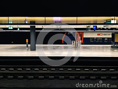 Train station Editorial Stock Image