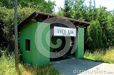 Train station stop in croatia