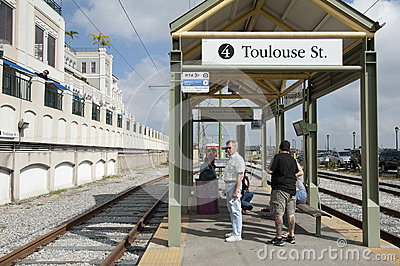 Train stop in new orleans Editorial Image
