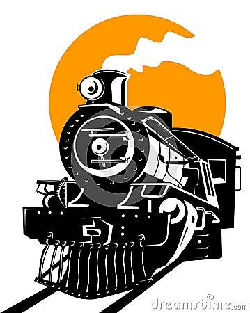 Train with sun