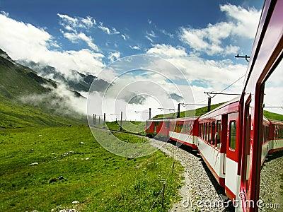 Train in Switzerland (Oberalppass)