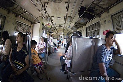 Train Thailand Editorial Stock Photo